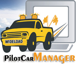 PilotCarManager.com website for pilot cars, oversize load trucks